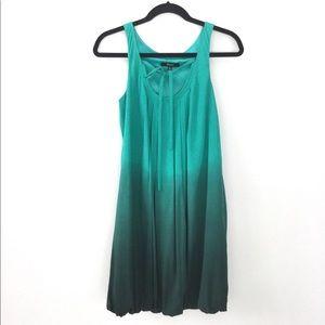 Express Washable Silk Bubble Hem Dress
